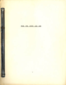TAKE THE MONEY AND RUN (1969) Script