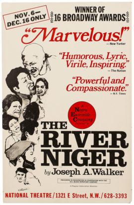 RIVER NIGER, THE/WINDOW CARD (1973)