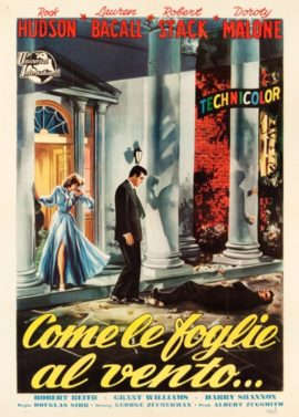 WRITTEN ON THE WIND/DOUGLAS SIRK/ITALIAN POSTER 1956)