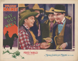 WAY OUT WEST WITH WILLIAM HAINES (1930)