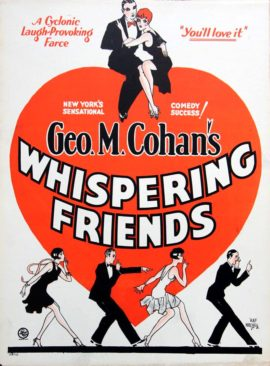 WHISPERING FRIENDS (1928) / HAP HADLEY BROADWAY POSTER ART