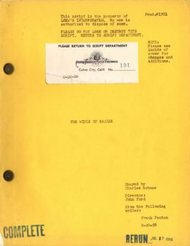 (FORD, JOHN, DIRECTOR) THE WINGS OF EAGLES. Two considerably variant original vintage film scripts