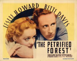 PETRIFIED FOREST, THE TITLE LOBBY CARD (1935 Warner Brothers)