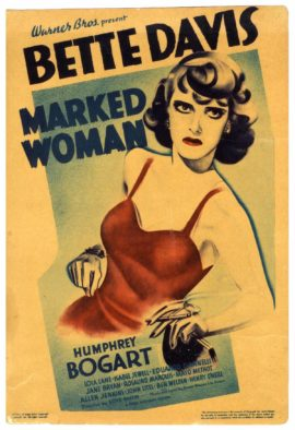 MARKED WOMAN MINI WINDOW CARD (1937)