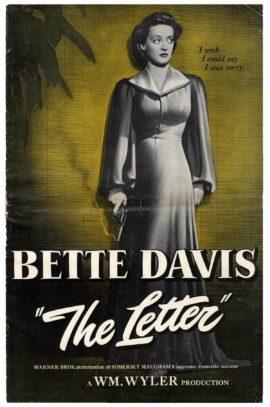 BETTE DAVIS IN THE LETTER PRESSBOOK (1940)