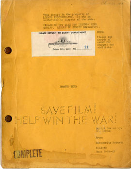 DRAGON SEED (Aug 13, 1943) Revised film script by Marguerite Roberts for Pearl S. Buck adaptation