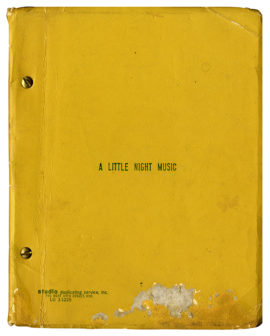 LITTLE NIGHT MUSIC, A (1973) Theatre script dated Mar 5, 1973