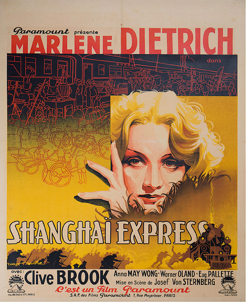 Shanghai Express Lobby Card Movie Poster Marlene Dietrich