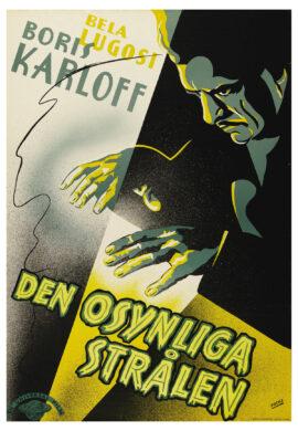 INVISIBLE RAY, THE [DEN OSYNLIGA STRALEN] (1935) Swedish one sheet