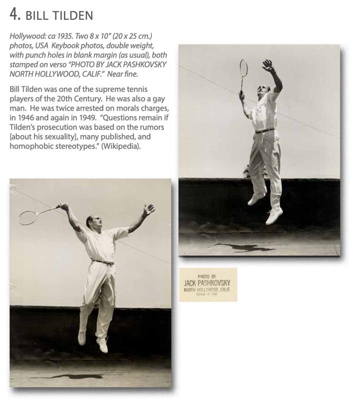 WalterFilm: LGBTQ Cultural History: Bill Tilden famous gay tennis player