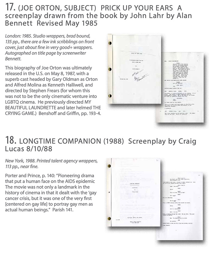 "WalterFilm: LGBTQ Cultural History: Film Script:s ""Prick Up Your Ears"" & ""Longtime Companion"""