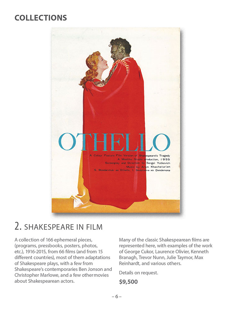 Walter Reuben Catalog - Shakespeare Collection