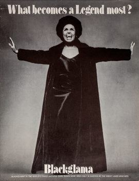 """LENA HORNE / BLACKGLAMA (1969) """"What Becomes a Legend Most?"""" poster"""