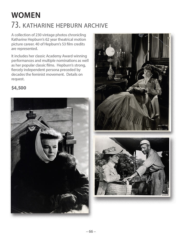 Walter Reuben Catalog - Women - Katharine Hepburn Collection