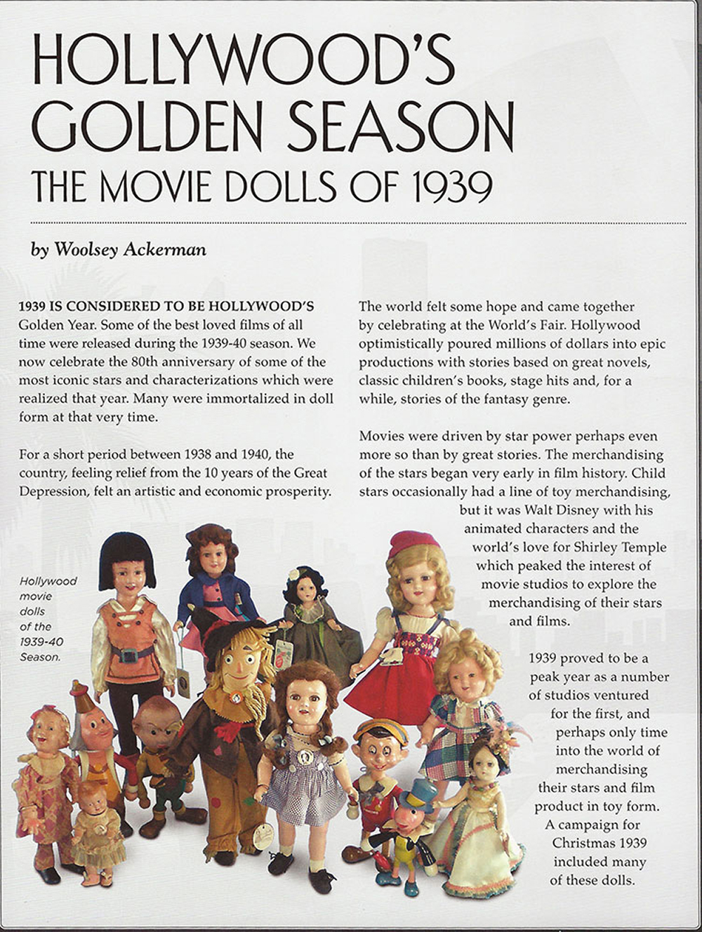 Hollywoods Golden Season - 1938 Hollywood Dolls