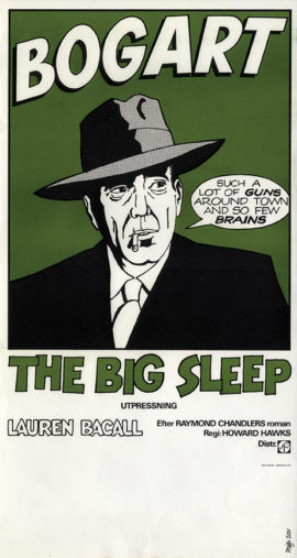 "The Big Sleep (1975) Swedish reissue window card-style (24 x 13"") poster done in Pop Art style."