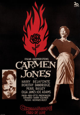 CARMEN JONES (1955 Swedish-release) Poster ft. Dorothy Dandridge