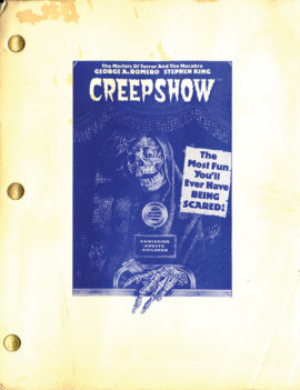 CREEPSHOW (1982) First draft film script dated 1980