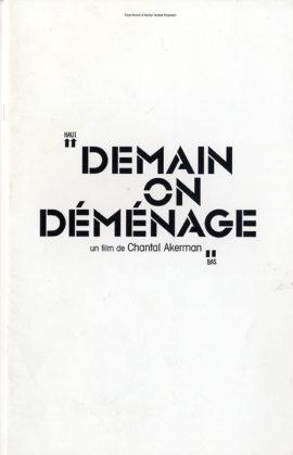 DEMAIN ON DEMENAGE (2004) French pressbook for Chantal Akerman film