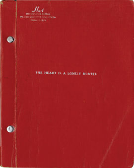 THE HEART IS A LONELY HUNTER (1968) film script & photo archive