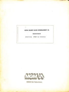 MOONSTRUCK (1987) revised first draft film script by John Patrick Shanley, dated Oct. 13, 1986