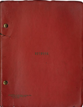 NETWORK (1976) film script inscribed by actor Lance Henriksen