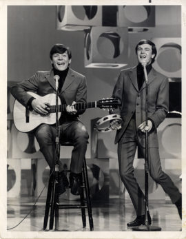 Peter Allen with Chris Allen in appearance on The Tonight Show, circa 1967.