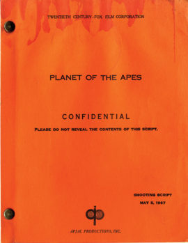 PLANET OF THE APES (1968) shooting film script dated May 5, 1967 by Michael Wilson
