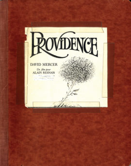 PROVIDENCE (1977) Final 3rd Draft film script belonging to David Mercer