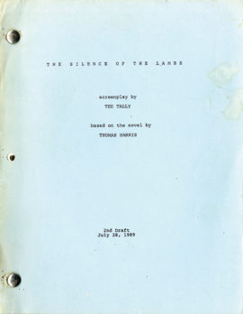 THE SILENCE OF THE LAMBS (1991) 2nd draft film script dated Jul. 28, 1989