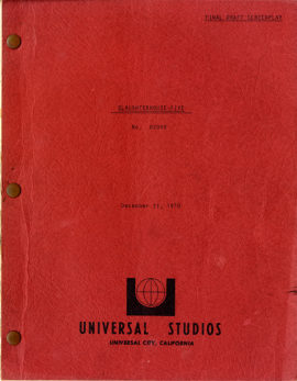 SLAUGHTERHOUSE-FIVE (1972) final draft screenplay by Stephen Geller adapted from Kurt Vonnegut, Jr., dated Dec. 21, 1920