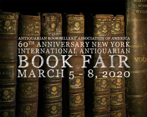2020 New York International Antiquarian Book Fair