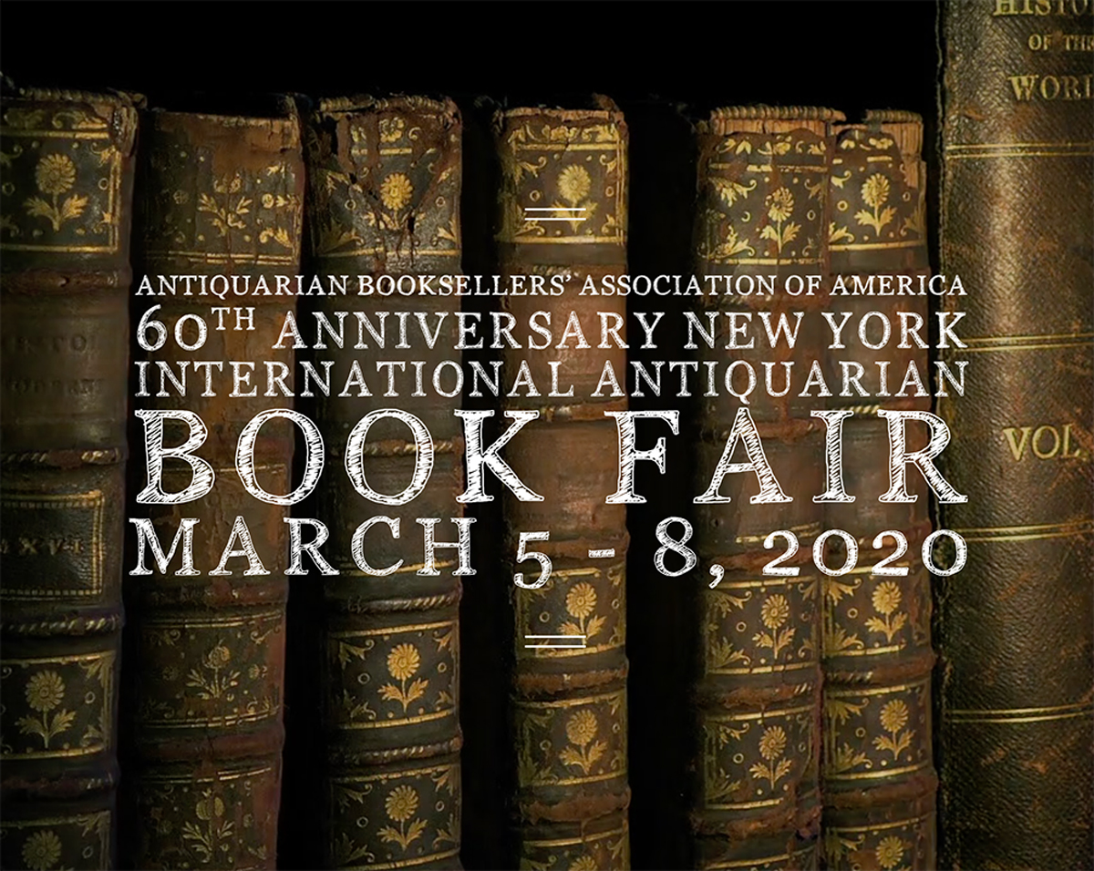 2020 New York International Antiquarian Book Fair