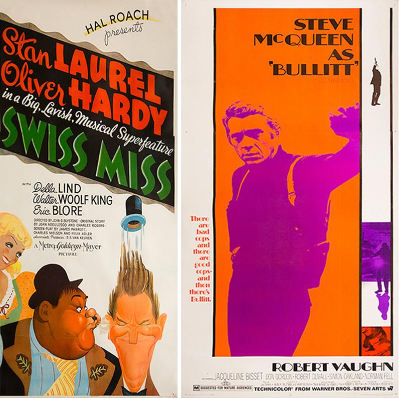 New York Book Fair - WalterFilm Posters - Swiss Miss & Bullitt