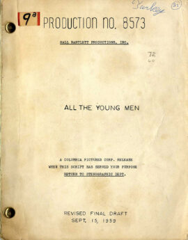 ALL THE YOUNG MEN (Sep 15, 1959) Revised Final Draft script by Hall Bartlett