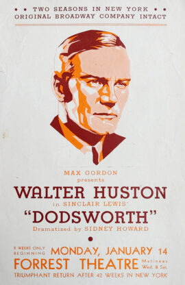 DODSWORTH (1935) Theatre tour flyer