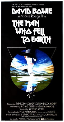 MAN WHO FELL TO EARTH, THE (1976) British three sheet poster