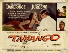TAMANGO (1959 US-release) Lobby card set ft. Dorothy Dandridge