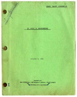TO KILL A MOCKINGBIRD (1962) Archive of 3 film scripts