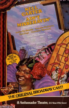 AIN'T MISBEHAVIN' (1988) Theatre poster