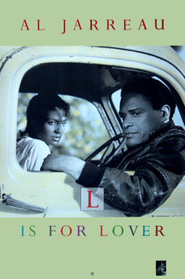 AL JARREAU / L IS FOR LOVER (1986) Record store poster