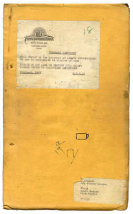 BHOWANI JUNCTION (1956) Screenplay by Sonya Levien and Ivan Moffat dated Feb 1, 1955