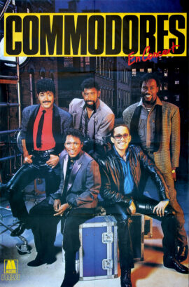 COMMODORES, THE / EN CONCERT (1985) French concert poster
