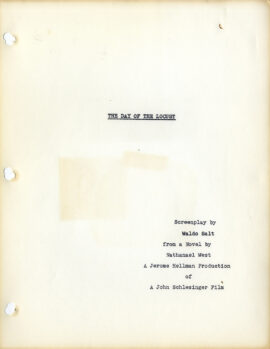 DAY OF THE LOCUST, THE (1975) Adapted screenplay by Waldo Salt