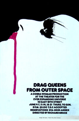 DRAG QUEENS FROM OUTER SPACE (ca. 1986) Theatre poster