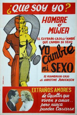 GLEN OR GLENDA [YO CAMBIÉ MI SEXO] (1961) Argentinian-release poster