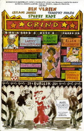 GRIND (1985) Theatre poster