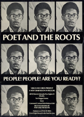 POET AND THE ROOTS (1977) Record store poster