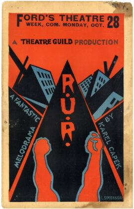 R.U.R. (1923) Theatre poster