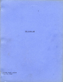 THIRD MAN, THE (1949) Second Draft script, Jul 19, 1948 by Graham Greene